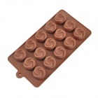 Lotus Type 15-Compartment  Round Chocolate Ice Mold - Coffee