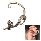 eQute EPEW24C13 Women's Cool Punk Style Cat Shaped Alloy Earring - Bronze