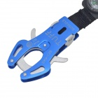 TUFF Portable Outdoor Hiking Aluminum Alloy Carabiner Buckle w/ Compass + Key Ring - Blue