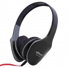 Ditmo DM-2570 Adjustable Headband 3.5mm Wired Stereo Headphones - Black