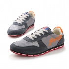 SNJ Men's Casual Skateboard Shoes - Dark Gray+ Red + White (EU Size 43)