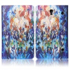 ENKAY Flower Pattern PU Flip Open Case w/ Stand / Card Slots for 8.4'' Samsung Galaxy Tab S T700