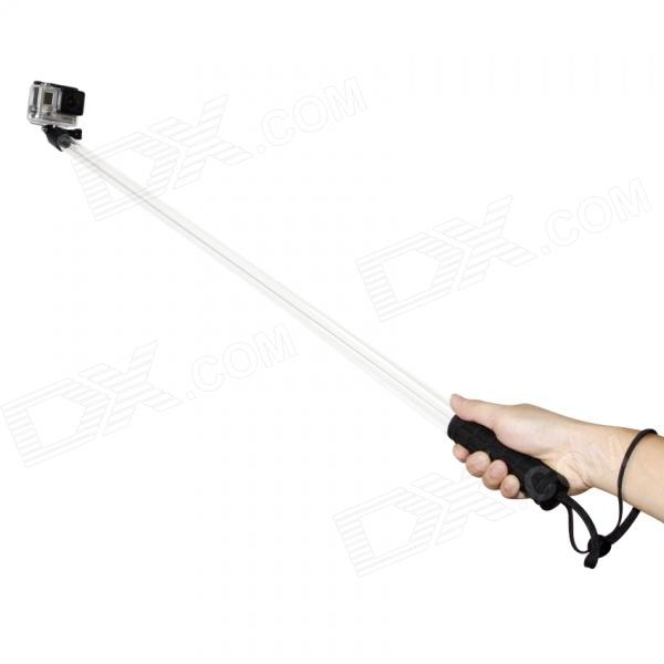 TOZ Handheld Monopod  w/ Wristband for GoPro 1 / 2 3 3+ - Black + Transparent (60cm)