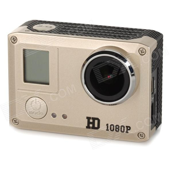 Amkov SJ5000 20MP 2/3 CMOS 1080P Full HD WFi Outdoor Sports Digital Video Camera - Golden + Black