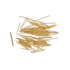 P038-Q1 Spring Test Probe Pogo Pin w/ R038-2W7 Microprobe Casing Cable - Golden (2.0mm / 100 PCS)