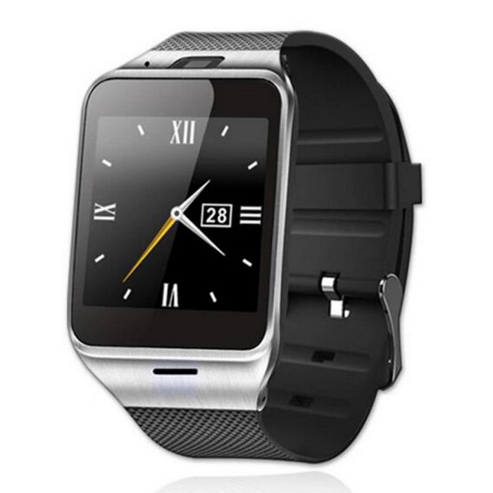 "1.5"" OGS Touch Screen Bluetooth V3.0 Smart Watch Phone w/ Camera / SIM / TF Card Slot - Black thumbnail"