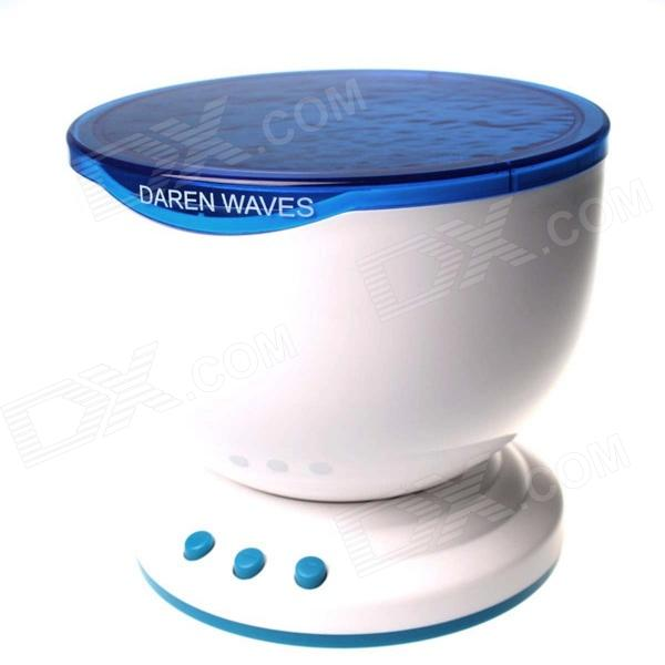 0.5W 18lm Blue Light Oceanic Starry Sky Projection Night-light w/ Speaker - White + Sky Blue the devil and the deep blue sea