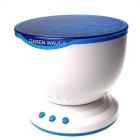 0.5W 18lm Blue Light Oceanic Starry Sky Projection Night-light w/ Speaker - White + Sky Blue