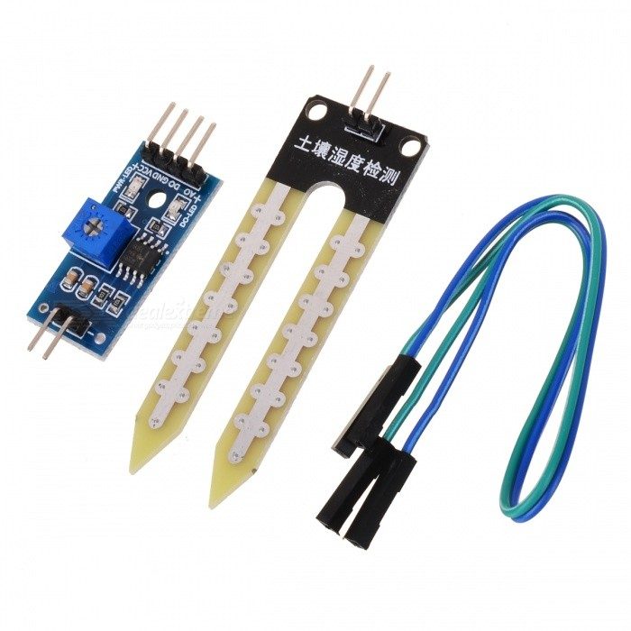 Soil Hygrometer Humidity Detection Moisture Water Sensor Module - Light Blue
