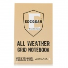 EDCGEAR Wasserdicht Outdoor Travel Notepad Notebook - Khaki + Schwarz (11 x 16cm)
