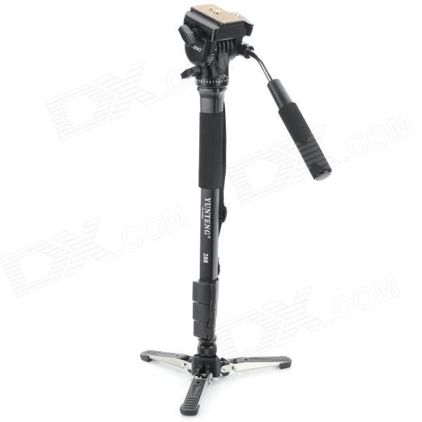 YUNTENG VCT-288 Portable Professional 4-Section Aluminum Alloy Monopod Tripod for SLR / Video Camera new professional aluminum alloy yunteng vct 668 tripod for slr dslr camera maximum load 3kg with carry bag