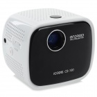 Icodis CB-100 Portable 45LM Mini Projector w/ LED / Speaker / USB / TF - White + Black