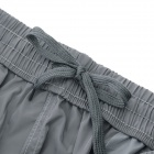 Summer Outdoor Casual Polyester Fifth Pants for Men - Light Grey (XXL)