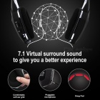 HUHD HW-399M 2.4GHz Wireless Gaming Headphones Support Optical Fiber Transmission - Black