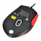 R.horse FC-1655 Programmable Breathing Light Gaming Mouse w/ DPI Display Screen - Red + Black