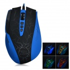 R.horse FC-1655 Programmable Breathing Light Gaming Mouse w/ DPI Display Screen - Blue + Black