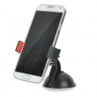 360 Degree Rotational Adjustable Car Mount Stand w/ Suction Cup for Cell Phone - Black + Red