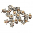 6mm Mini Copper Stepper Motors w/ Gear - Silver (20 PCS)