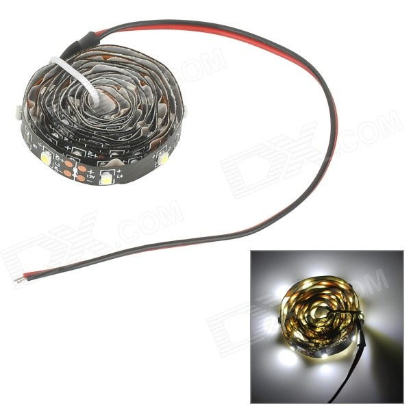 SENCART 2.5W 100lm 66-SMD 3528 LED White Car Decoration Light Strip (DC 12V / 18cm)