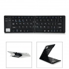 Ultra-Thin Folding Bluetooth v3.0 66-Key Keyboard for Samsung Tablet / IPAD - Black + Silver