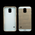 Protective Aluminum Alloy Bumper Frame w/ PC Back Cover for Samsung Galaxy S5 - Champagne Gold