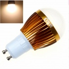 CXHEXIN G10-8 GU10 8W 640lm 3000K 16-SMD 5630 LED Warm White Light Bulb - White + Gold (AC 85~265V)