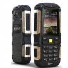 "MANN ZUG-S IP67 Waterproof Dustproof Shockproof Rugged GSM Phone w/ 2.0"" Screen, Quad-band - Golden"