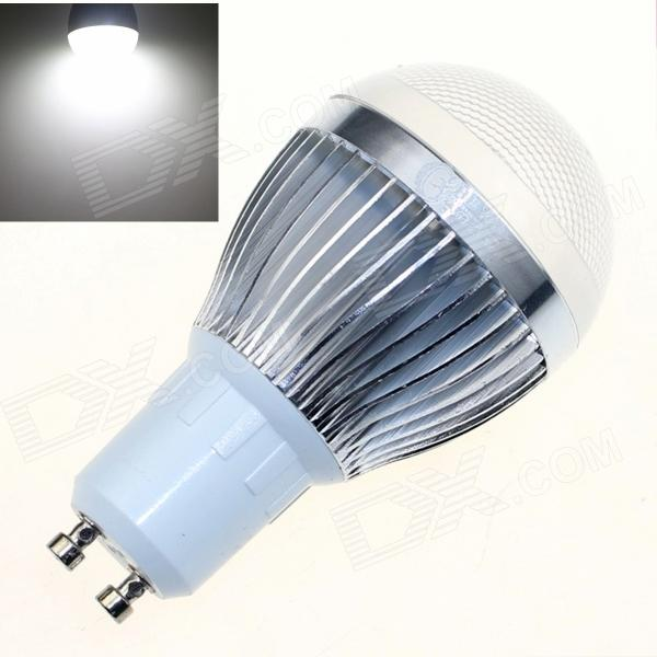 CXHEXIN S10-8 GU10 8W 640lm 6000K 5630 SMD LED White Light Bulb - White + Silver (AC 85~265V)