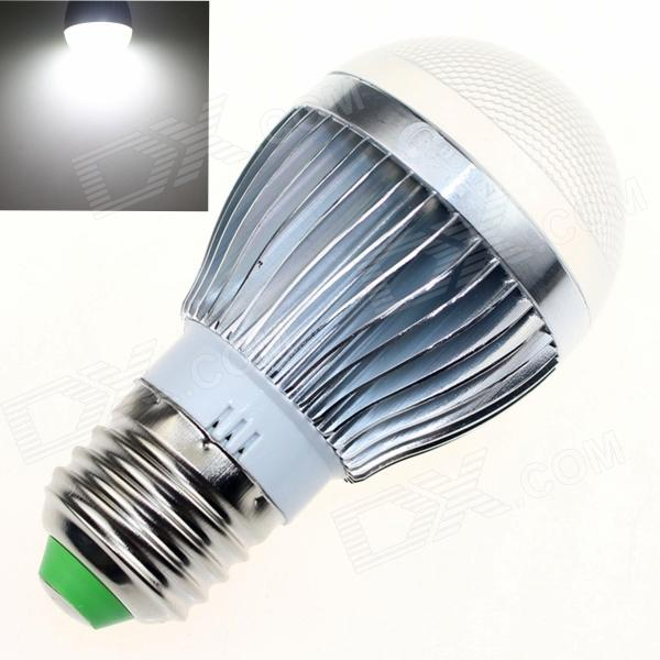CXHEXIN S27-8 E27 8W 560lm 6000K 16-SMD 5630 LED White Light Bulb - White + Silver (AC 85~265V) cxhexin e27cx24 e27 7w 3000k 500lm 24 5630 smd led warm white light white ac 85 265v