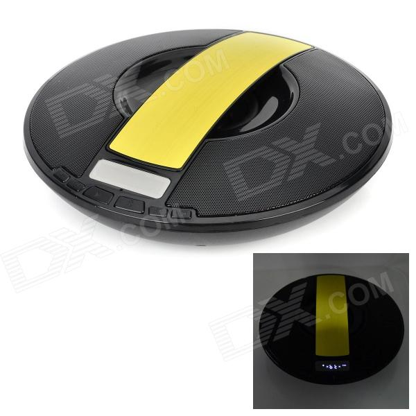 V3.0 Speaker SDY-021 sem fio Bluetooth w / FM / TF / Micro USB / USB / Alarm Clock - Black + Yellow