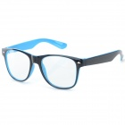 Unisex UV400 Protection Plastic Frame PC Lenses Sunglasses - Blue + Black
