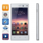 "Quad-Core Android 4.4.2 WCDMA Bar Phone w/ 4.5"" IPS, ROM 4GB - White + Silver"