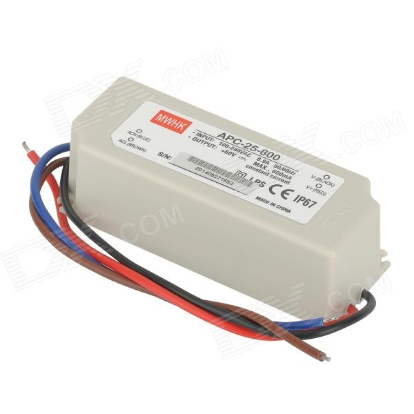Mean Well APC-25-600 Waterproof IP67 25W Power Supply - Grayish White (100~240V) bside btha01 temperature