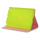 Protective  360' Rotary Flip Open PU Case Cover w/ Auto Sleep for IPAD Mini - Green