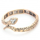 Cool Punk Snake Style Zinc Alloy Bracelet - Golden