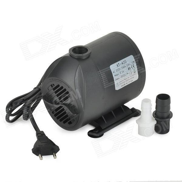 AngTe AT-420 35W Submersible Water Pump - Black (220~240V / EU Plug) at 707 7w pet fish tank submersible pump black eu plug 220 240v