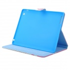 Plum Blossom Pattern Protective PU Leather Case Cover Stand for IPAD 2 / 3 / 4 - White + Deep Pink