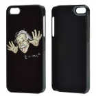 Albert Einstein and Mass-energy Equation Pattern Aluminum Alloy Back Case for IPHONE 5 / 5S - Black