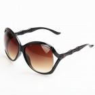 Women's Retro Bamboo Joint Style PC Frame PC Lens UV400 Protection Sunglasses - Black + Brown