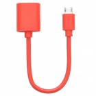 WDX-04 Micro USB Male to USB Female OTG Cable Adapter for Samsung Galaxy S4 - Red