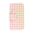 Kinston KST90615 PU Leather Flip Open Case w/ Stand for HTC Desire 816 - Yellow + Pink + Multi-Color