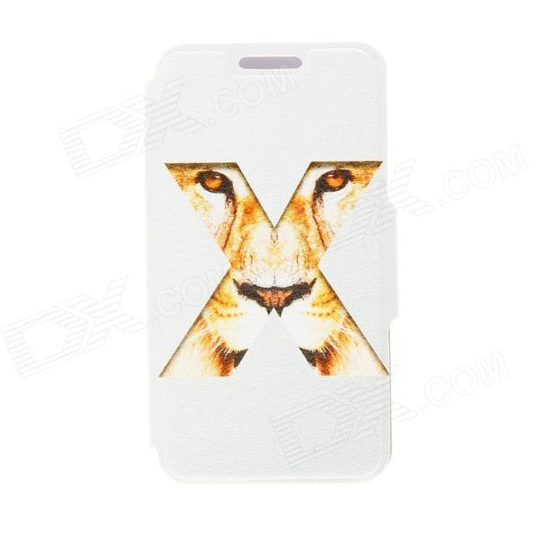 Kinston Tiger's Eye Pattern PU Leather + Plastic Flip Open Case w/ Stand for Google LG Nexus 4 E960 kinston love for you pattern pu leather full body case w stand for google lg nexus 4 e960 white
