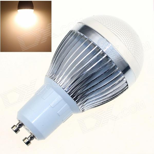 CXHEXIN S10-8 GU10 8W 640lm 3000K 16-SMD 5630 LED Warm White Light Bulb - White + Silver (AC85~265V)