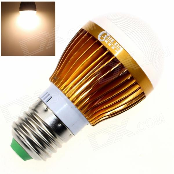 CXHEXIN G27-8 E27 8W 560lm 3000K 16-SMD 5630 LED Warm White Light Bulb - White + Gold (AC 85~265V) cxhexin s27 8 e27 8w 560lm 3000k 5630 smd led warm white light bulb white silver ac 85 265v