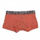 Men's Super Soft Modal Bamboo Fiber Breathable Boxers Underpants - Orange (2 PCS / XXL)