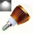CXHEXIN G14-8 E14 8W 640LM 6000K 16-SMD 5630 LED White Light Bulb - Golden + Weiß (AC 85 ~ 265V)