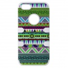 Good Luck Aztec Indians Maya Tribe Pattern Retro Vintage Back Cover Case for IPHONE 5 / 5S - White