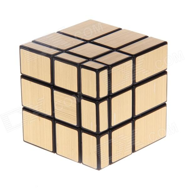 7097A Ultra-smooth Three-layer Mirror Magic Rubik's Cube Toy - Golden yj8305 3x3x3 three layers magic cube puzzle toy
