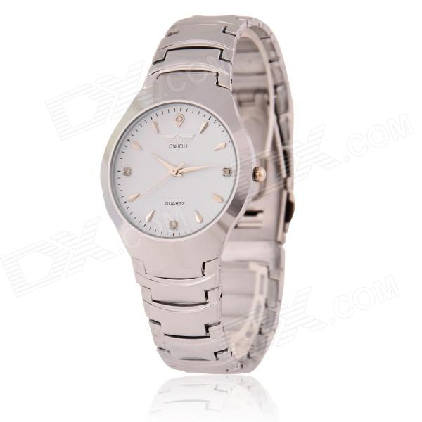 Men's Simple Classic Analog Quartz Wristwatch - Silver (1 x 377)