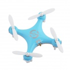 CX-10 Mini 2.4G 4-CH Radio Control Outdoor R/C Quadcopter w/ Gyro - Blue + White (2 x AAA)